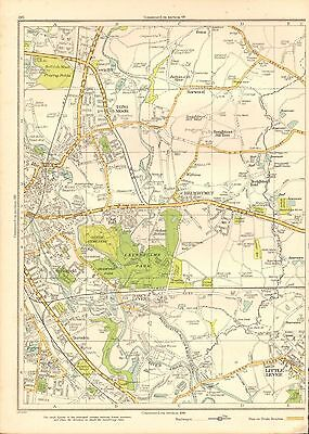 1935 Lancashire Original Map- Breightmet, Little Lever, Burnden, Tong Moor,