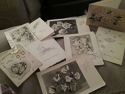 A Collection Of Vintage Wedding Cards - French
