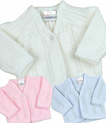 BabyPrem Baby Boys Girls Clothes Premature Tiny Blue Pink White Cardigan 3 - 8lb