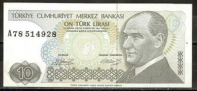 Turkey 1970  10 Lira P 192