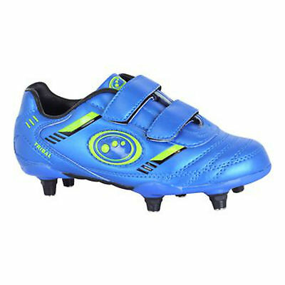Optimum Tribal VELCRO® Rugby Boot Blue/Green Junior size 2, 5 or 6