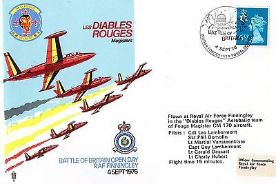 1976 Raf Finningly Les Diables Rouges  Raf Ad/22 Fdc From Collection L1