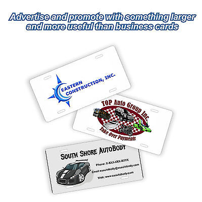 Business Logo Promotional License Plates 20 Plate Lot