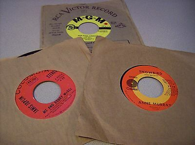 Collectible Vintage 45 rpm Records Lot of 3