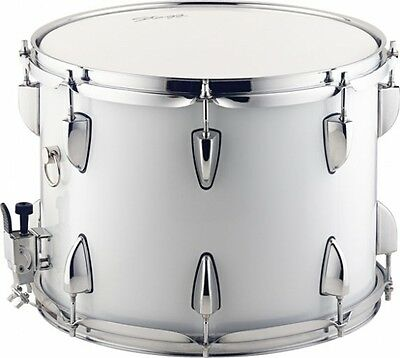 "Stage  14"" x 10"" - Marching Snare Drum w/Sling Strap - White"