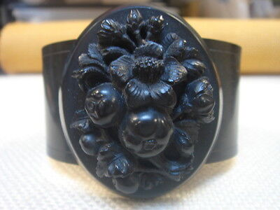 Victorian Vulcanite/jet Mourning Bangle