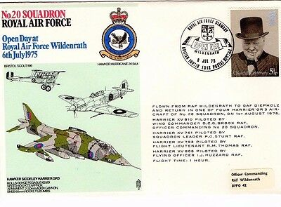 1975 20 Squadron Wildenrath Open Day R.a.f. Fdc From Collection L11