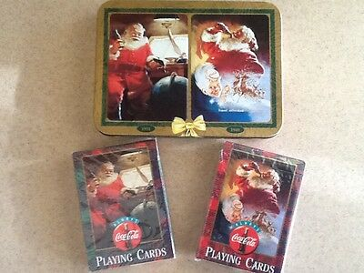 Coca-Cola Santa Playing Cards, 1997 Collection, New Unopened Twin Pack, USA
