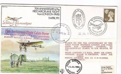 1981 FIRST FLIGHT LONDON-PARIS 75th ANNI RAFFF29 R.A.F. FDC FROM COLLECTION L14