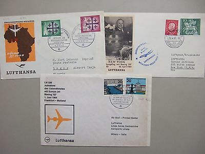 Three Germany First Flight Covers