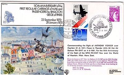 1981 FIRST FLIGHT BALLOON MAIL 110th ANNI RAFFF25 R.A.F. FDC FROM COLLECTION L15