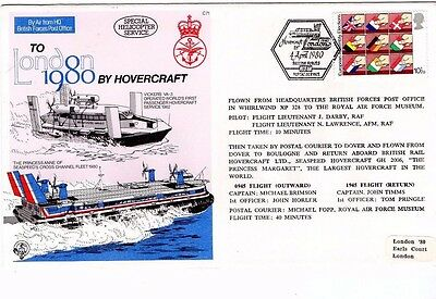 1980 Forces Mail To London By Hovercraft Fdc From Collection L17