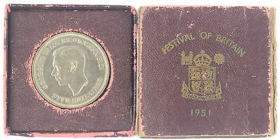 1951 FESTIVAL OF BRITAIN  CROWN - red box