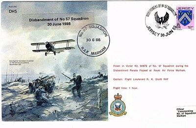 1986 Dh5 Disbandment Of 57 Squadron Raf B10 Fdc From Collection M1