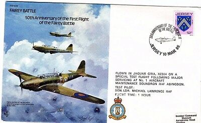 1986 FAIRLEY BATTLE FIRST FLIGHT 50th ANNIVERSARY RAF B26 FDC FROM COLLECTION M6