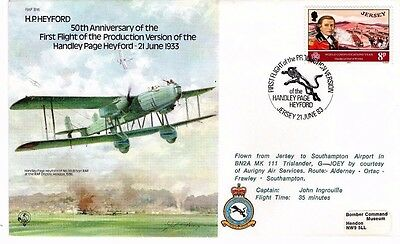 1983 H.P. HEYFORD FIRST FLIGHT 50th ANNIVERSARY RAF B18 FDC FROM COLLECTION M7