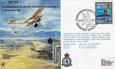 1982 Avro 504 No1 Royal Navy Air Service 1914 Raf B2 Fdc From Collection M9