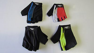 Cycling Gloves Bike Half Finger Bicycle Gel Padded Palm Fingerless Gloves .