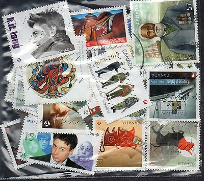 50 used stamps from canada   45