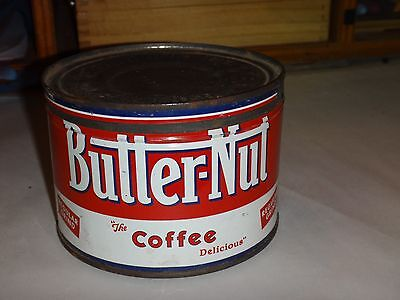 Vintage Butter-Nut Coffee 1 LB. Advertisiing Tin-Original Lid-Good Condition