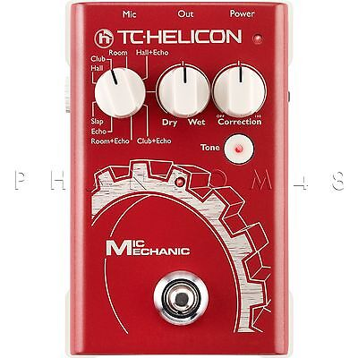 TC-Helicon VoiceTone Mic Mechanic Vocal Reverb/Delay & Pitch Correction Pedal