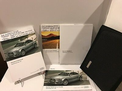 2014 14 AUDI A4 S4 OWNERS MANUAL And Guide Books Full Set - (#b193)