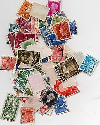 120 used stamps from HOLLAND