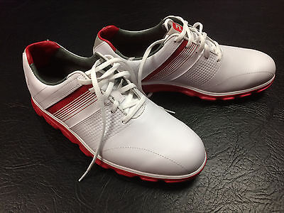 Footjoy Dryjoys Casual Golf Shoes - White/Red - Size 8 UK