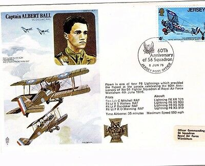 1976 Captain Albert Ball 56 Squadron Raf Fdc From Collection M20