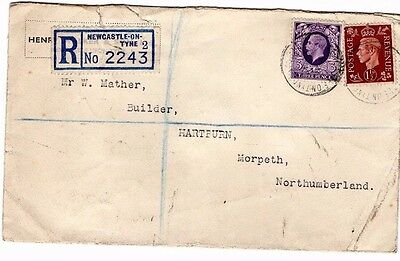 Gv /gvi Registered Newcastle -On-Tyne 2243 Cover  From Collection M19