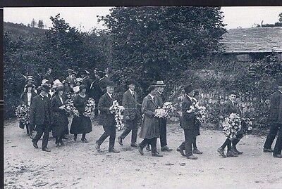 1922 Edith Parkyn Funeral Cornwall Nostalgic Postcard From Collection E5