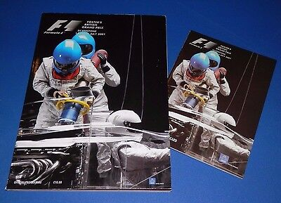 Silverstone - British Grand Prix programme and racecard 2001