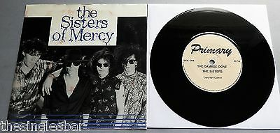 "The Sisters Of Mercy - The Damage Done / Watch Primary Records 7"" P/S"