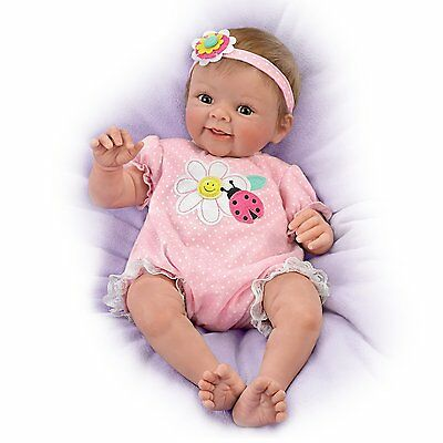 Ashton Drake - SMILE AWHILE SKYLER Poseable & Weighted Baby Doll by Sherry Rawn