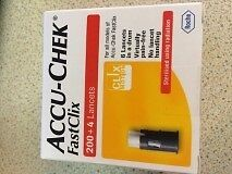 Accu-Chek FastClix 204 Lancets Use By 11/2020 Brand New In Sealed Box