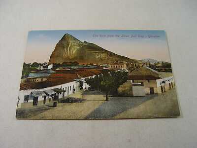 TOP10919 - Postcard - The Rock from the Linea Bull Ring, Gibraltar