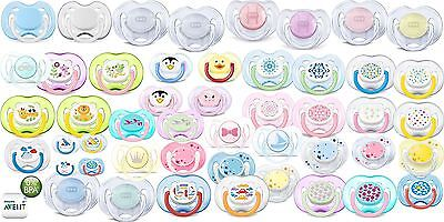 2 x Philips AVENT Orthodontic Baby Pacifier Soothers 0-6m 6-18m Boys Girls Dummy