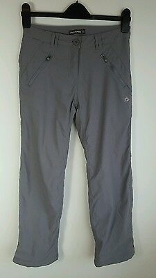 Craghoppers Ladies Grey Hiking Walking Lined Trousers Size 8