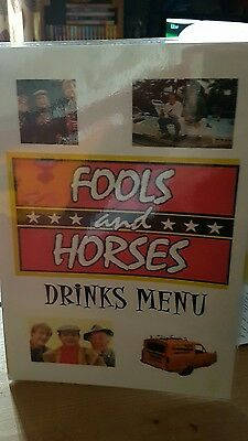 RARE Only Fools and Horses drinks menu