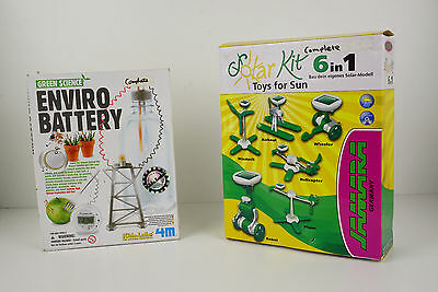 Science Kids Solar And Enviro Battery Kit Bundle Opend