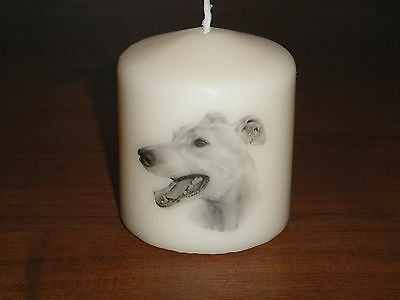 Candle Picture Greyhound Dog Can be Personalised Birthday Gift Memorial Love New