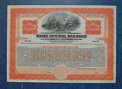 Maine Central Railroad Co., unissued registered gold bond, dated 19--.