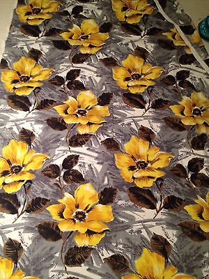 Vintage Retro 50s Barkcloth Fabric 200cm