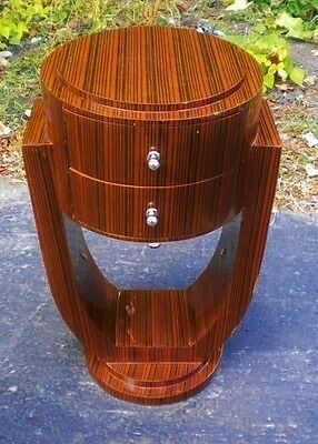 Art Deco inspired side table / commode