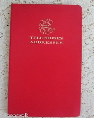 Vintage Rotary Phone Grants Department Store Address Phone Book Faux Leather Red