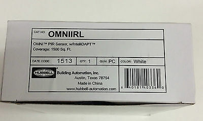 Hubbell Omniirl Omni Pir Sensor With Intellidapt White Free Us Shipping!!