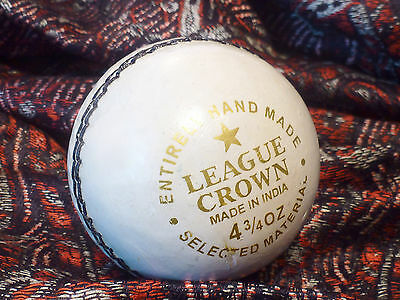 Fearnley League Crown Cricket Ball 4.75 oz, Hand Made India White