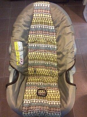 Graco SnugRide 20 22 Baby Car Seat Replacement Cushion Cover Green Brown Blue