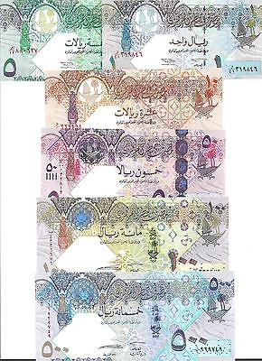 Qatar  Set  6 Notes  2003/2008  Unc
