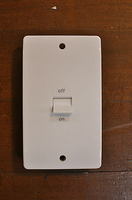 MK Double Pole Switch 50A amp 2G Gang Hob, Oven, Cooker, Shower